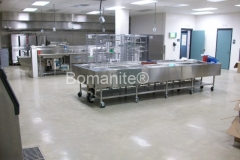 Bomanite Custom Polished Concrete with Belcolore System at the Cheshire County Jail on the Kitchen Floor in Keene, NH.