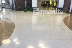Our colleague, Concrete Arts, expertly installed these stunning, award-winning floors at the Infinite Campus using the Bomanite Modena Custom Polishing System, adding a unique elegance to this space with a free-flowing design that highlights the beautiful aggregates and lustrous finish.