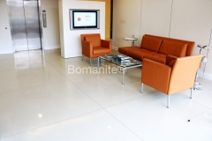 Musselman & Halls expertly installed these stunning floors using the Bomanite Modena Custom Polishing System, providing durability and strength, but also adding an elegant beauty that complements the sleek, sophisticated design in the MMGY office lobby.
