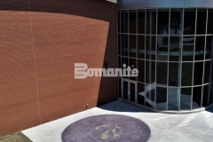 Bomanite Alloy was installed here to create a concrete paving surface that is extremely durable and the beautiful blend of reflective aggregates adds a distinctive decorative touch to the outside of this school.