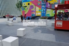 Various pour thicknesses were required at the World Trade Center Tower site and Bomanite Alloy concrete was the ideal product to accommodate these needs while providing a beautiful street design with a consistent appearance and decorative finish.