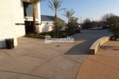 I love the beautiful color and texture that was added to this hardscape courtyard using Bomanite Sandscape Texture decorative concrete because it adds a distinctive design quality that is visually appealing.