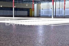 Bomanite Toppings Systems using Broadcast Flake
