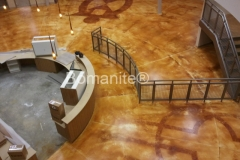 O'Fallon Park Rec Center using Bomanite Toppings Systems with Bomanite Chemical Stain in St. Louis, MO.
